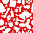 Stock Vector: Seamless vector christmas pattern