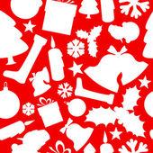 Seamless vector christmas pattern — Stock Vector