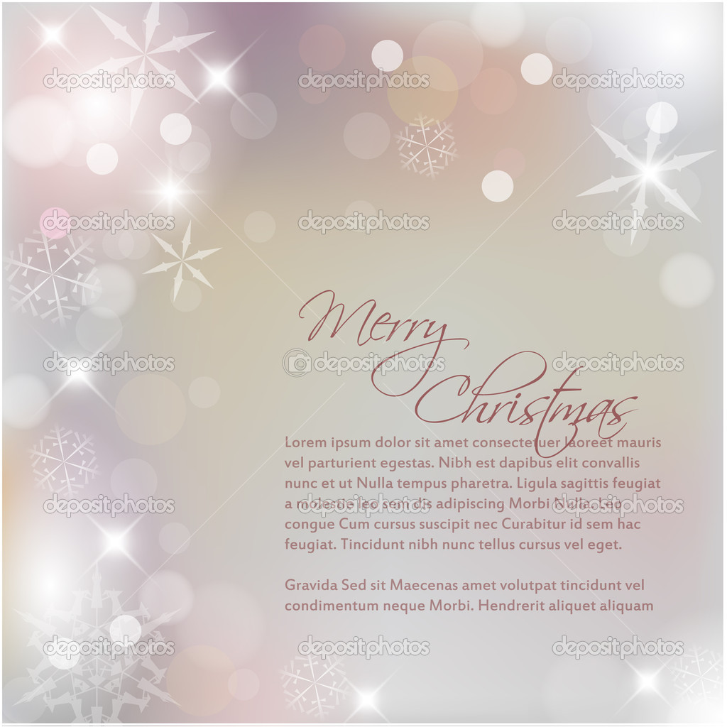 Vector Christmas background with white snowflakes and place for your text — Stock Vector #7312589