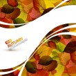 Royalty-Free Stock Vector Image: Colorful vector autumn background
