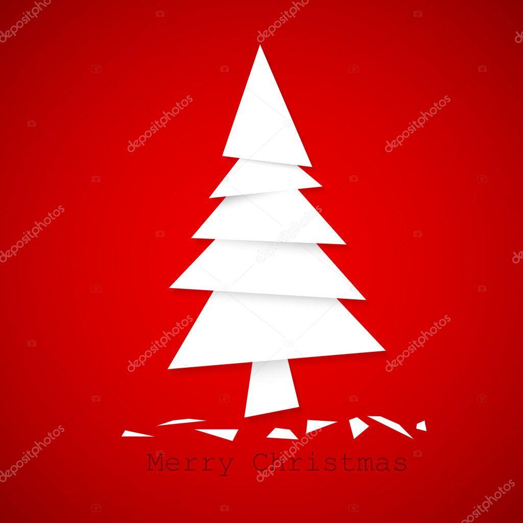 Sapin de no l de papier simple vecteur image vectorielle orson 7393513 - Sapin de noel pinterest ...