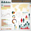 Vector set of Infographic elements — Vettoriali Stock