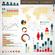 Vector set of Infographic elements — Imagen vectorial