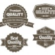 Old dark retro vintage grunge labels - Stock Vector