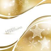 Golden Vector Christmas background — Stock Vector