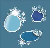 Vector winter Labels, stickers, pointers, tags — Stock Vector