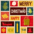 Vector Vintage vector christmas card — Stock Vector