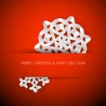 Vector white paper christmas snowflake — Stock Vector