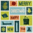 Vector Vintage vector christmas card — Stock Vector #7813517