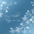 Vector blue abstract Christmas background — Stock Vector