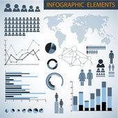 Big Vector set of Infographic elements — Stock Vector