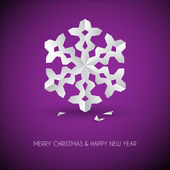 Vector white paper christmas snowflake — Stock Vector