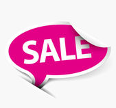 Vector pink Sale speech bubble — Stock Vector