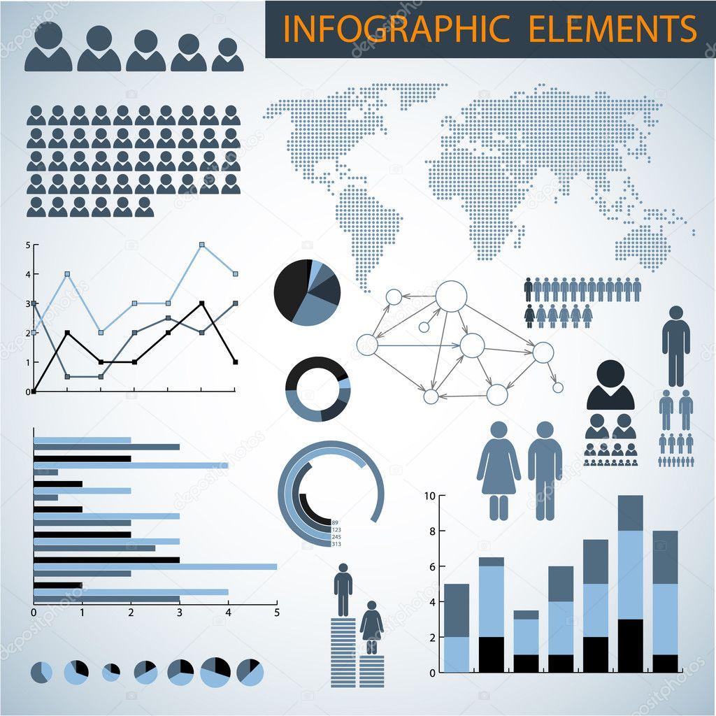 Big Vector set of Infographic elements — Stock Vector ...
