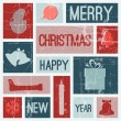 Royalty-Free Stock Vektorfiler: Vector Vintage vector christmas card