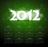 Green calendar for the new year 2012 — Stock Vector