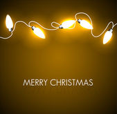 Vektor weihnachten hintergrund mit goldenen lichtern — Stockvektor