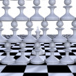 Chess. Conception of leadership — Foto de Stock