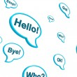 Royalty-Free Stock Photo: Speech dialogue bubbles on white background