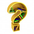 Book shelf shaped of question mark — Stock Photo #7940252