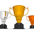 Trophy cups — Stock Photo