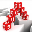 Success blocks over the crack hole - Foto Stock