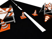 Road is under construction — Stock Photo