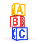 Abc colorful cubes on white. — Stock Photo