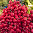 Royalty-Free Stock Photo: Radishes on a street market