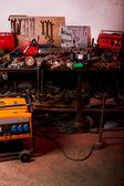 Inside a mechanic garage — Stock Photo