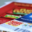 Saving coupons — Stock Photo