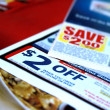Rebate coupons — Stock Photo