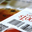 Stock Photo: Saving coupons