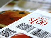 Saving coupons — Stock Photo
