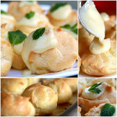 Fresh baked pastry collage — Stock Photo