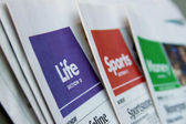 Newspaper sections — Stock Photo