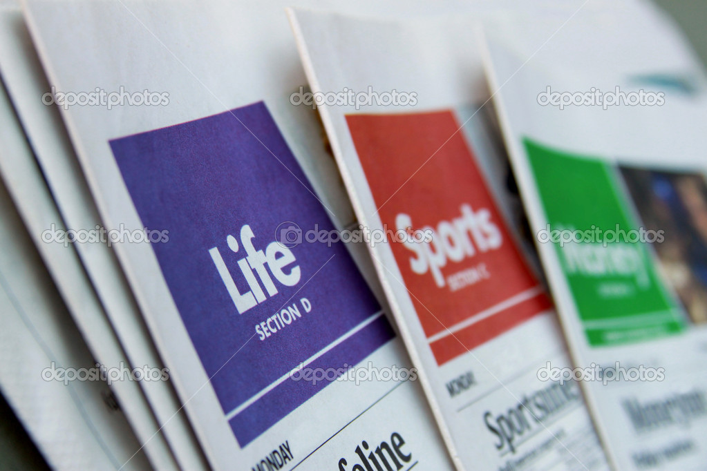 Newspaper sections — Stock Photo © outline205 #7808526