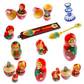 Collection of Russian souvenirs — Stock Photo
