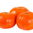 Three fresh orange tangerine — Stock Photo