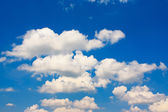 Deep blue sky in clouds — 图库照片
