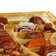 Stock Photo: Chocolate candies in a box