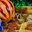 Stock Photo: New Year's still life of chocolate candy