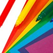 Colored paper and markers for creativity — Stock Photo