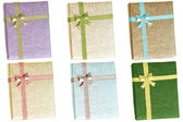 Gift boxes with ribbons — Stock Photo