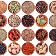 Wooden bowls full of different spices — Stock Photo #6909748