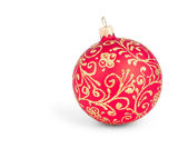 Traditional Christmas ball isolated on white — Stock Photo