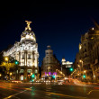 Gran via street in Madrid, Spain - Stock Photo