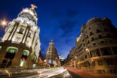 Gran via street, Madrid, Spain. — Stock Photo
