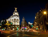Gran via street in Madrid, Spain — Stock Photo