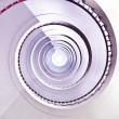 Stock Photo: White spiral staircase.